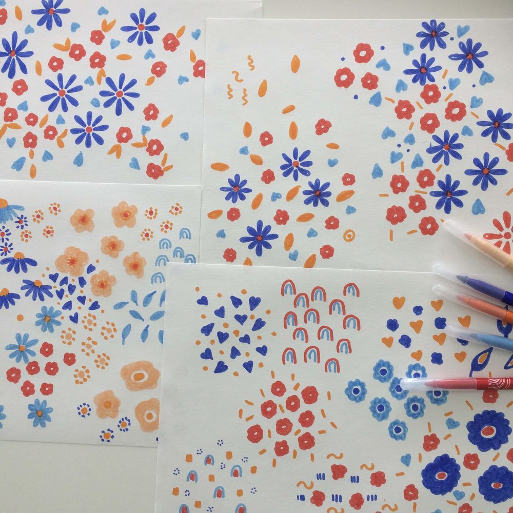 Pattern Design: From Sketch to Repeat Pattern - image 1 - student project