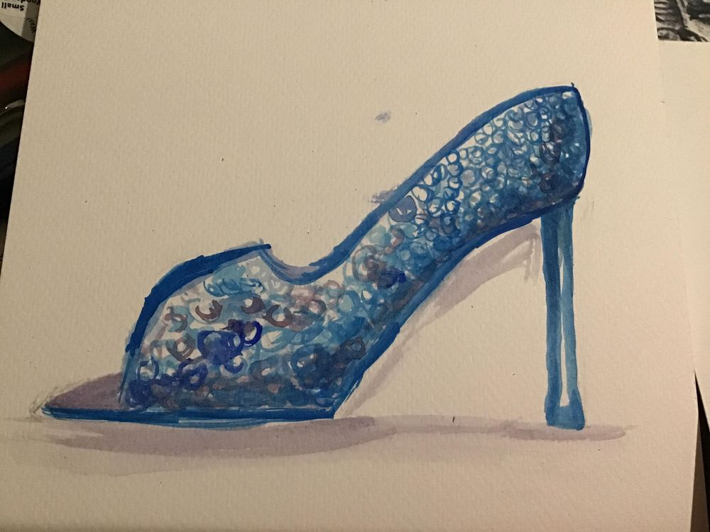 Two blue shoes - image 2 - student project