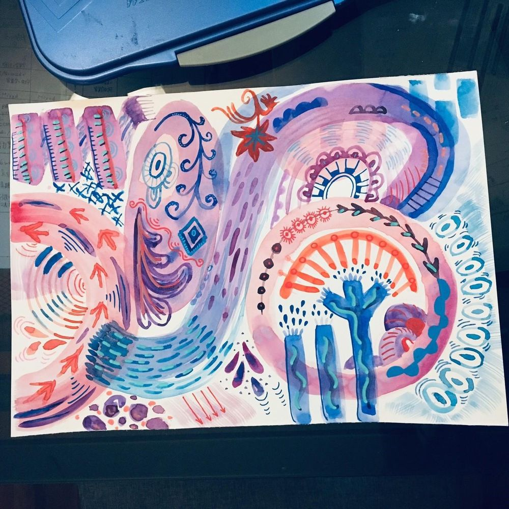 Watercolor playground - image 1 - student project