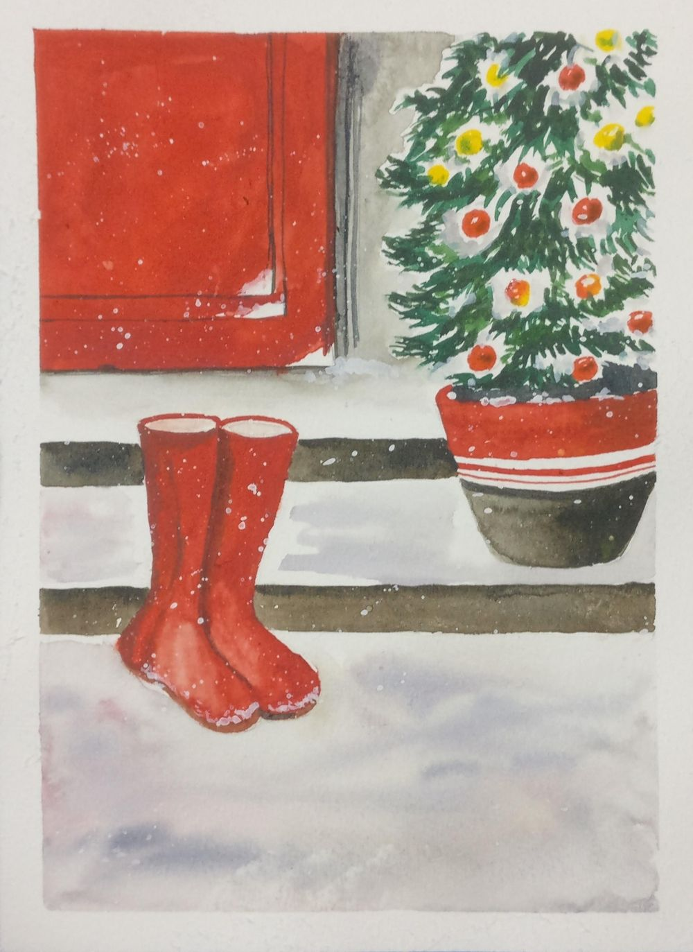 Christmas with watercolors - image 5 - student project