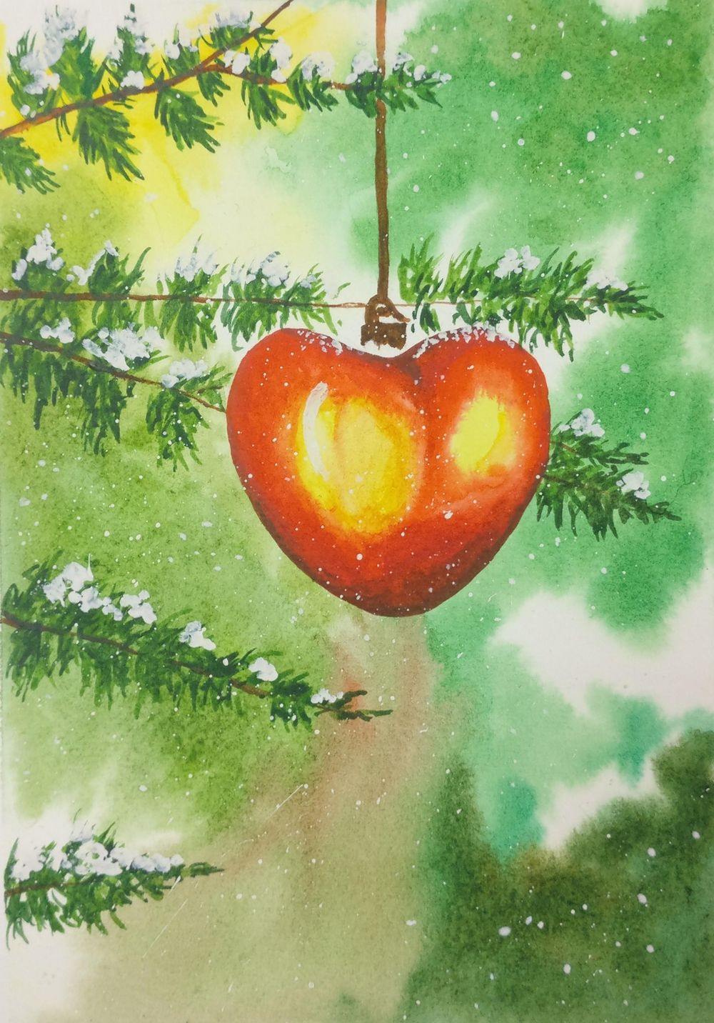 Christmas with watercolors - image 2 - student project