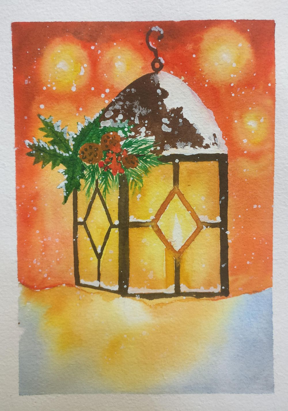 Christmas with watercolors - image 9 - student project