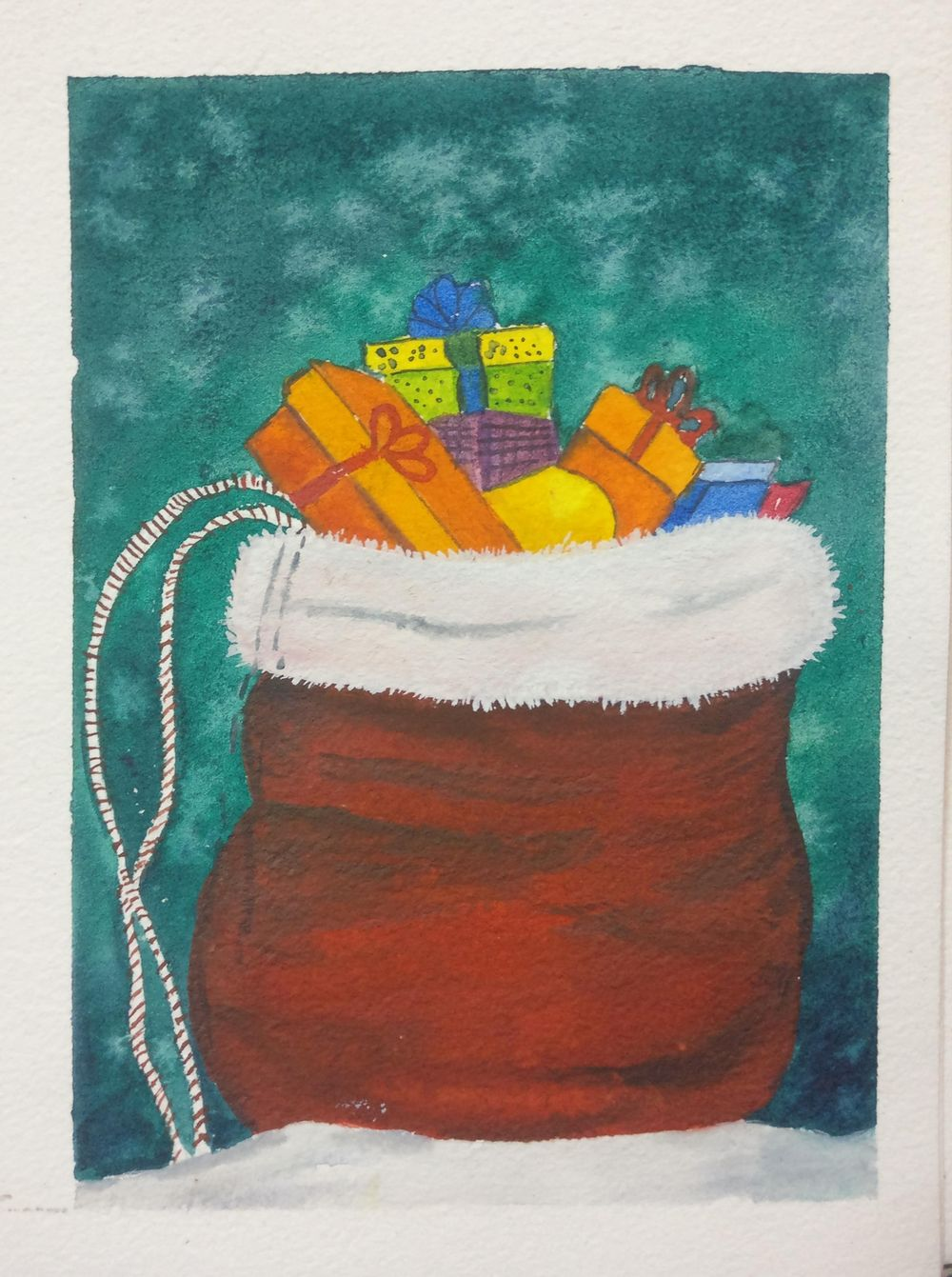 Christmas with watercolors - image 18 - student project