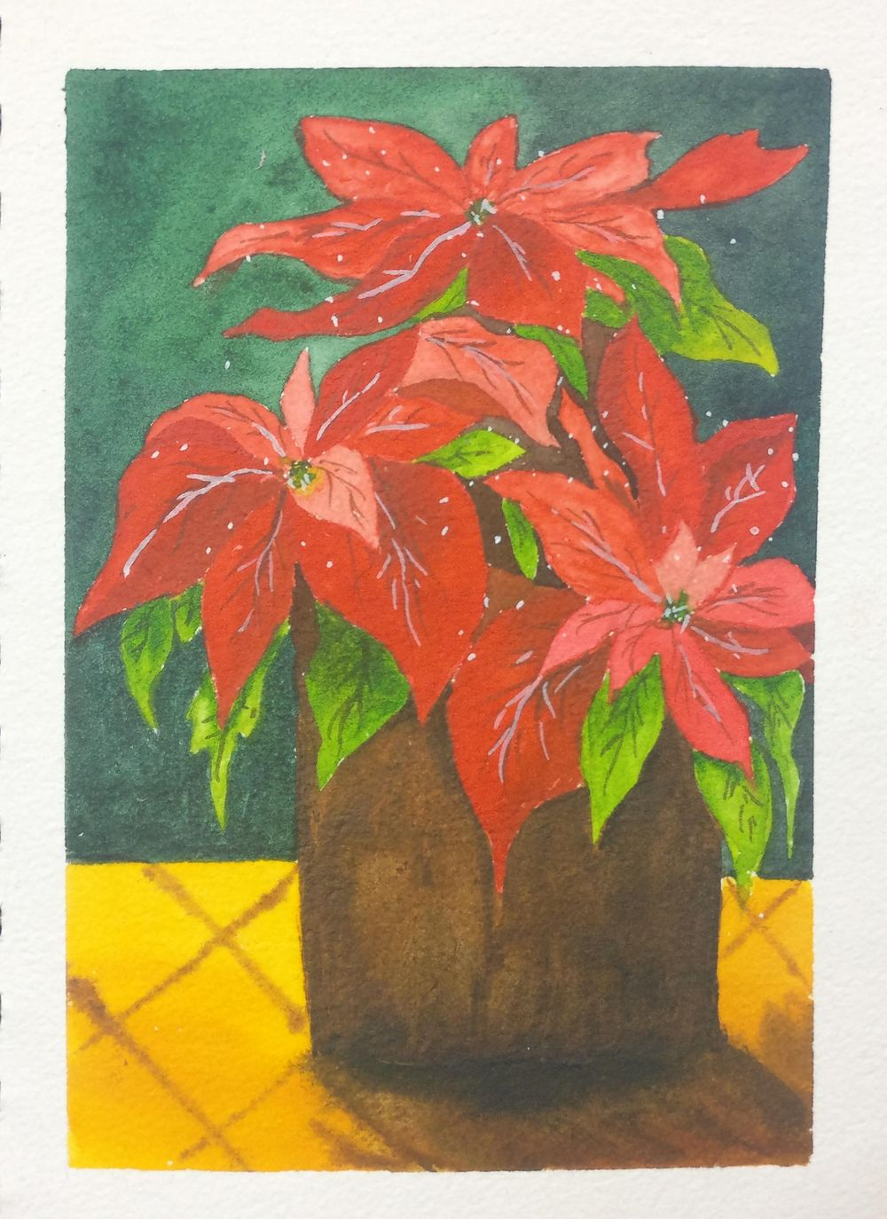 Christmas with watercolors - image 19 - student project