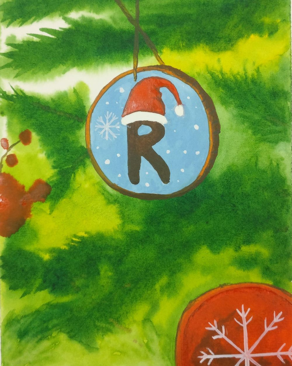 Christmas with watercolors - image 4 - student project