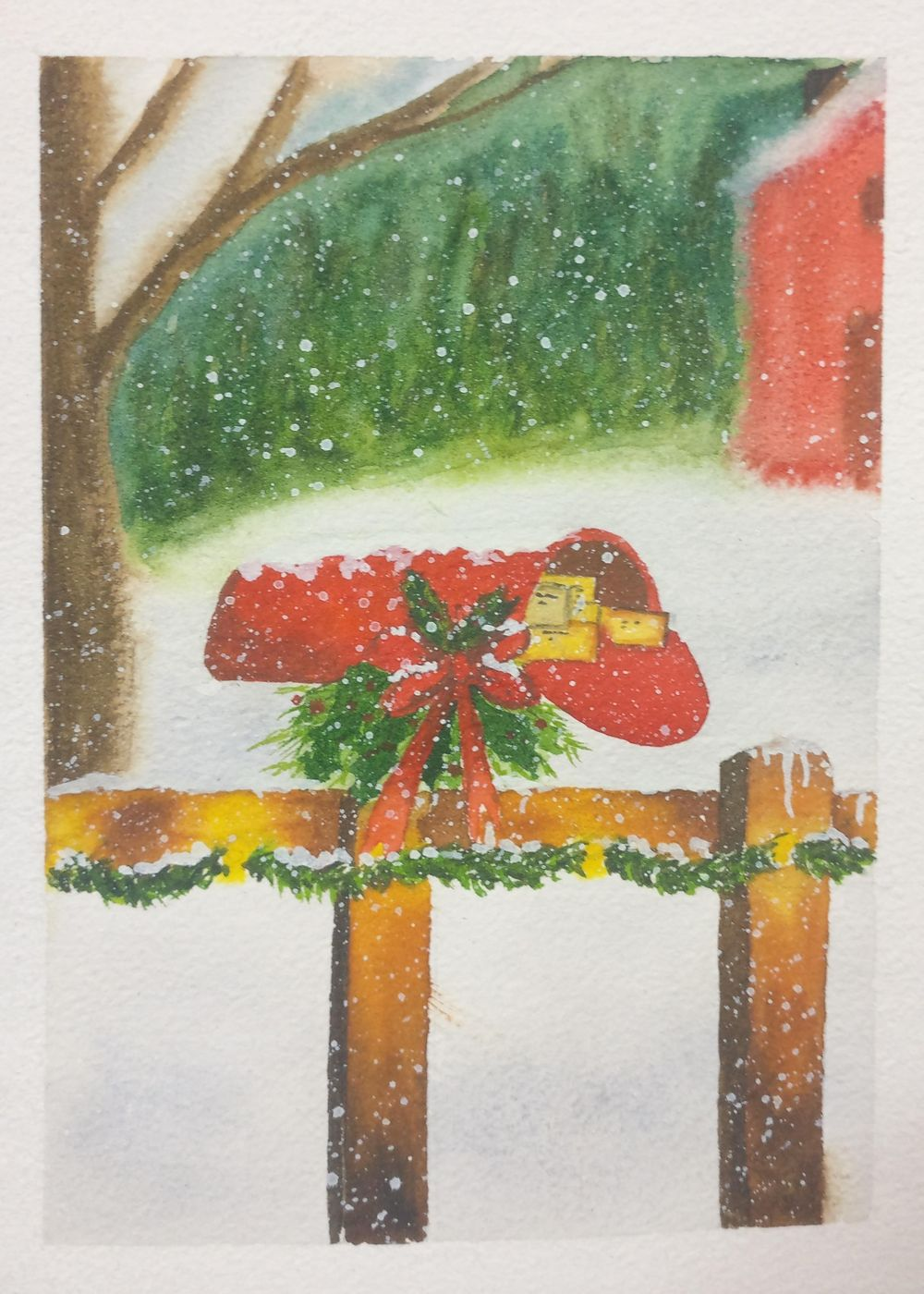 Christmas with watercolors - image 21 - student project