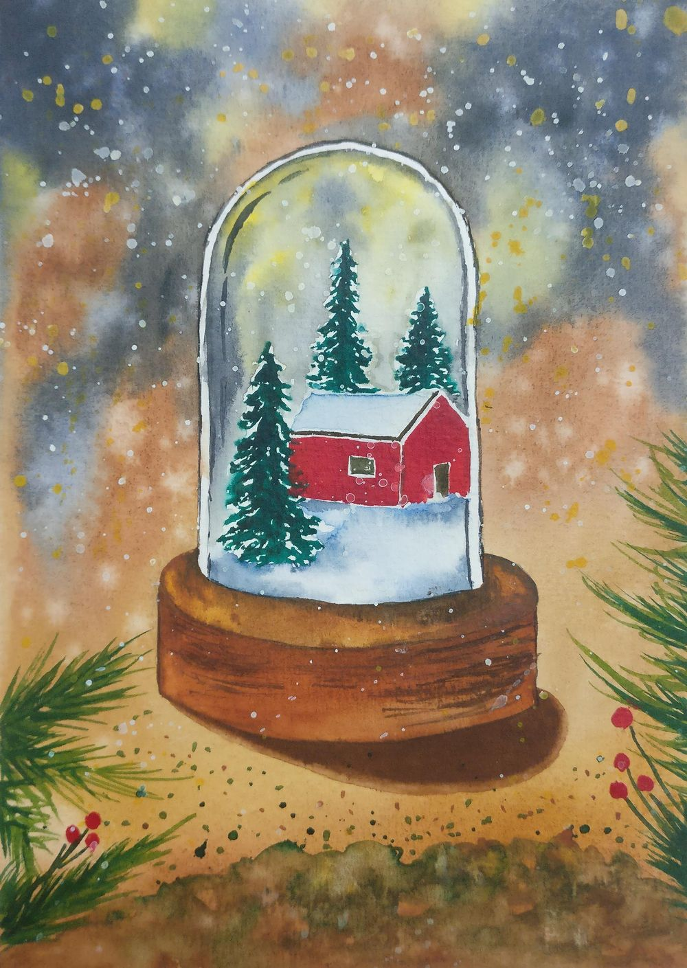 Christmas with watercolors - image 8 - student project