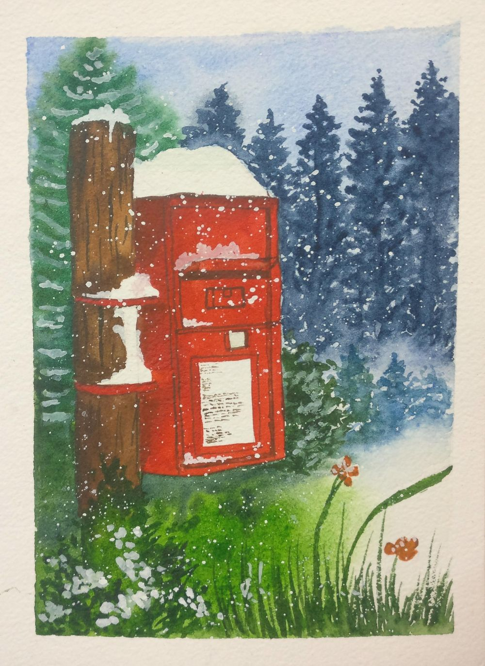 Christmas with watercolors - image 13 - student project