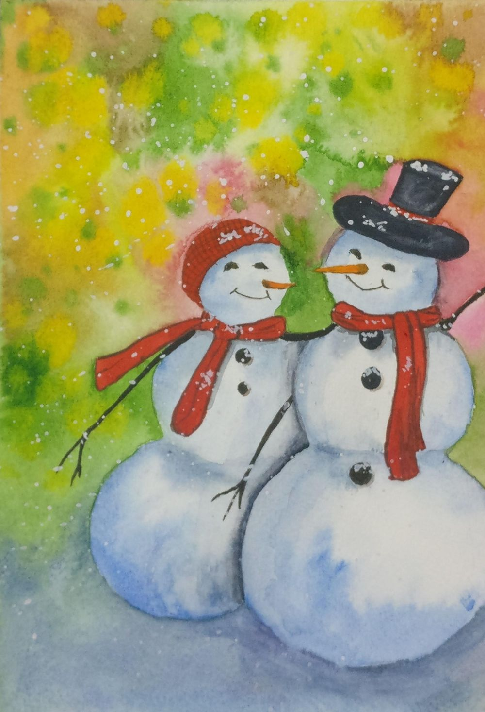 Christmas with watercolors - image 6 - student project