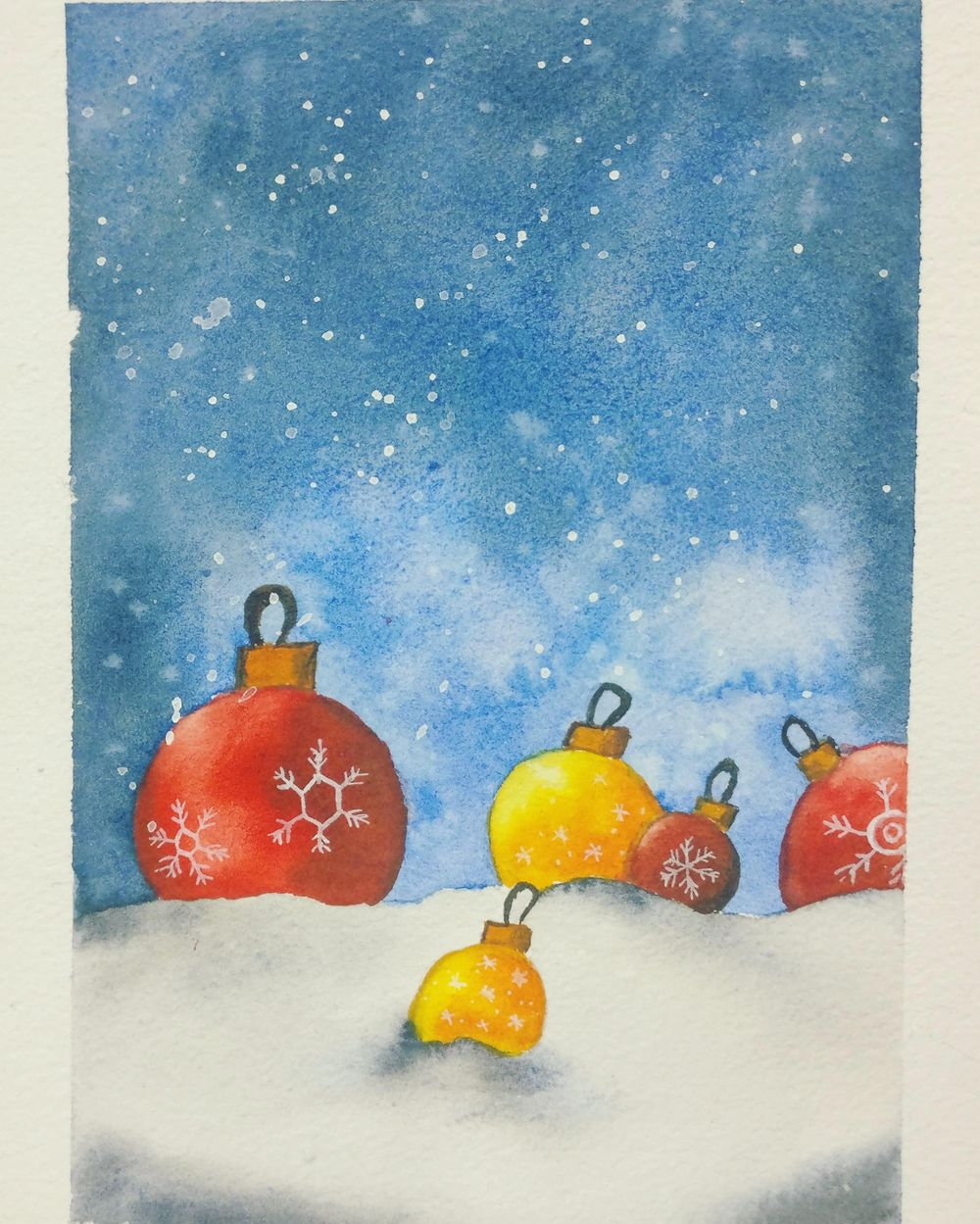 Christmas with watercolors - image 11 - student project