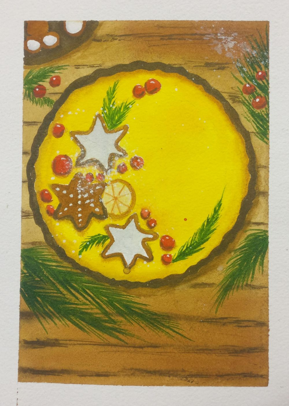 Christmas with watercolors - image 10 - student project