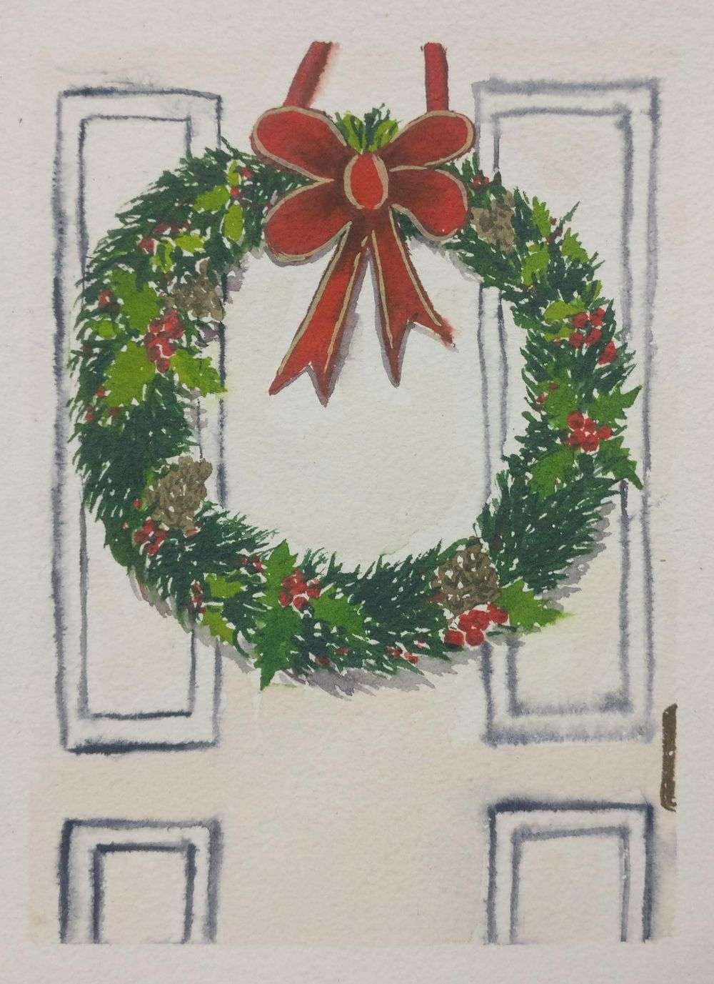 Christmas with watercolors - image 14 - student project