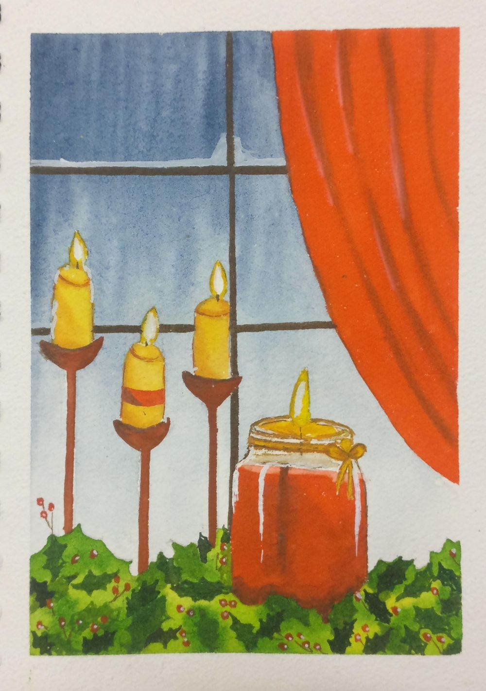 Christmas with watercolors - image 23 - student project