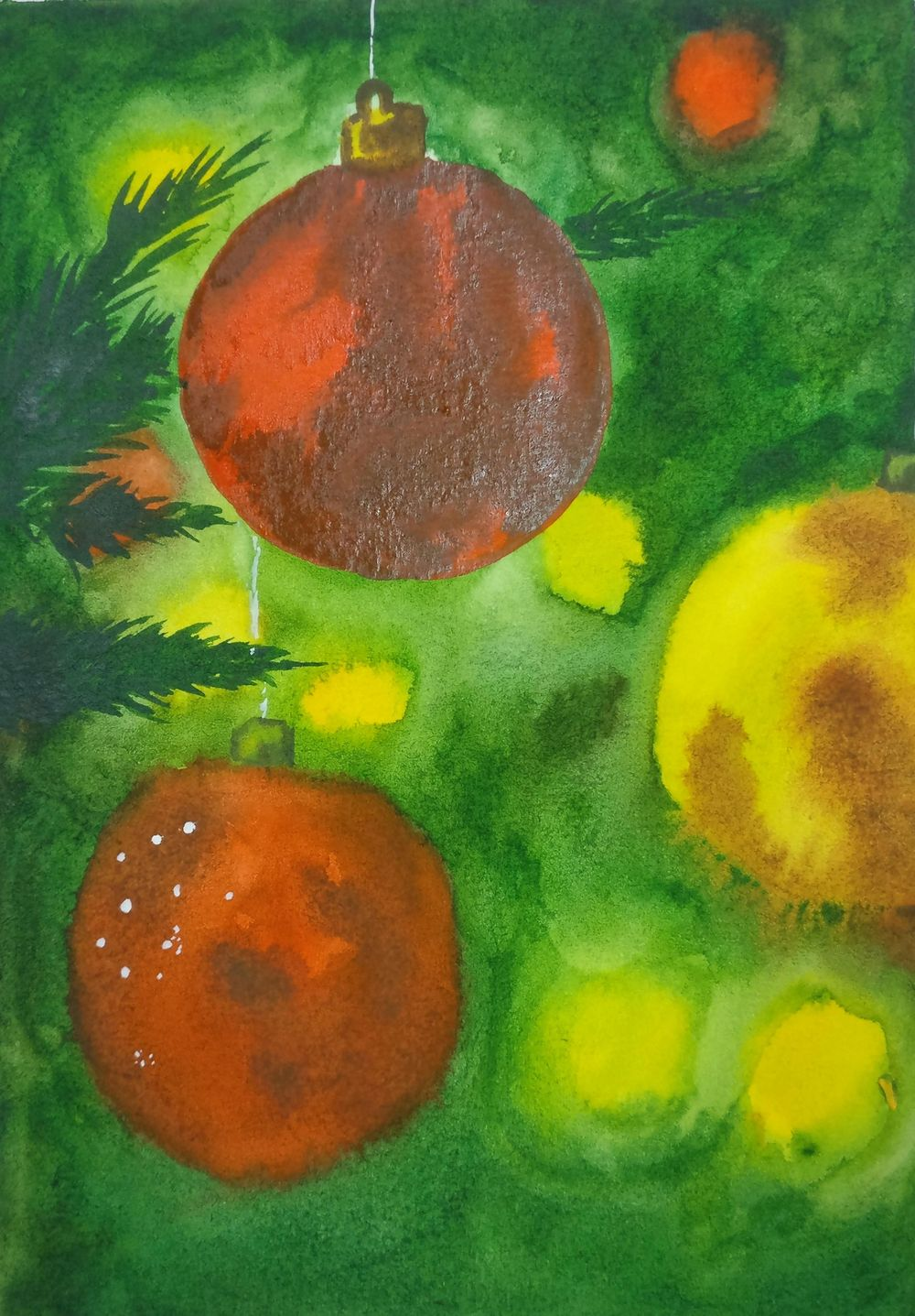 Christmas with watercolors - image 3 - student project