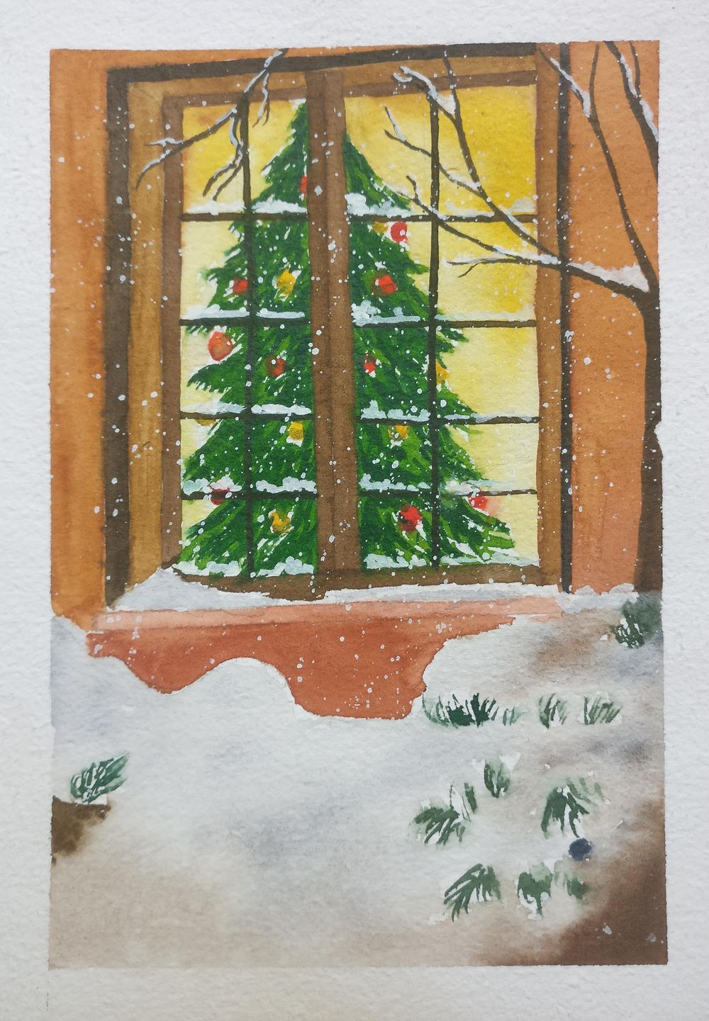 Christmas with watercolors - image 7 - student project