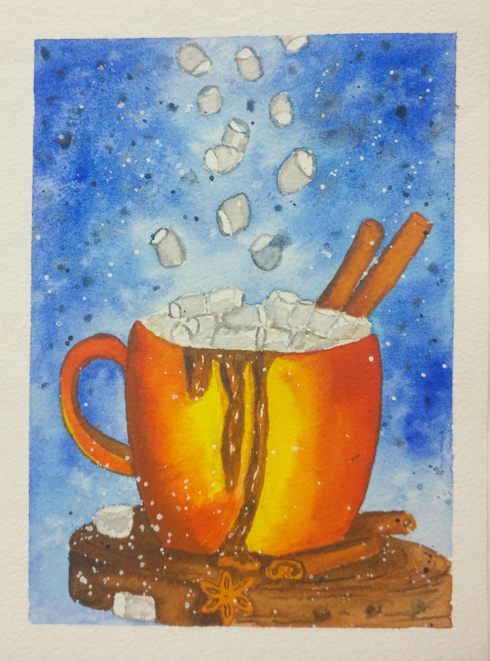 Christmas with watercolors - image 20 - student project