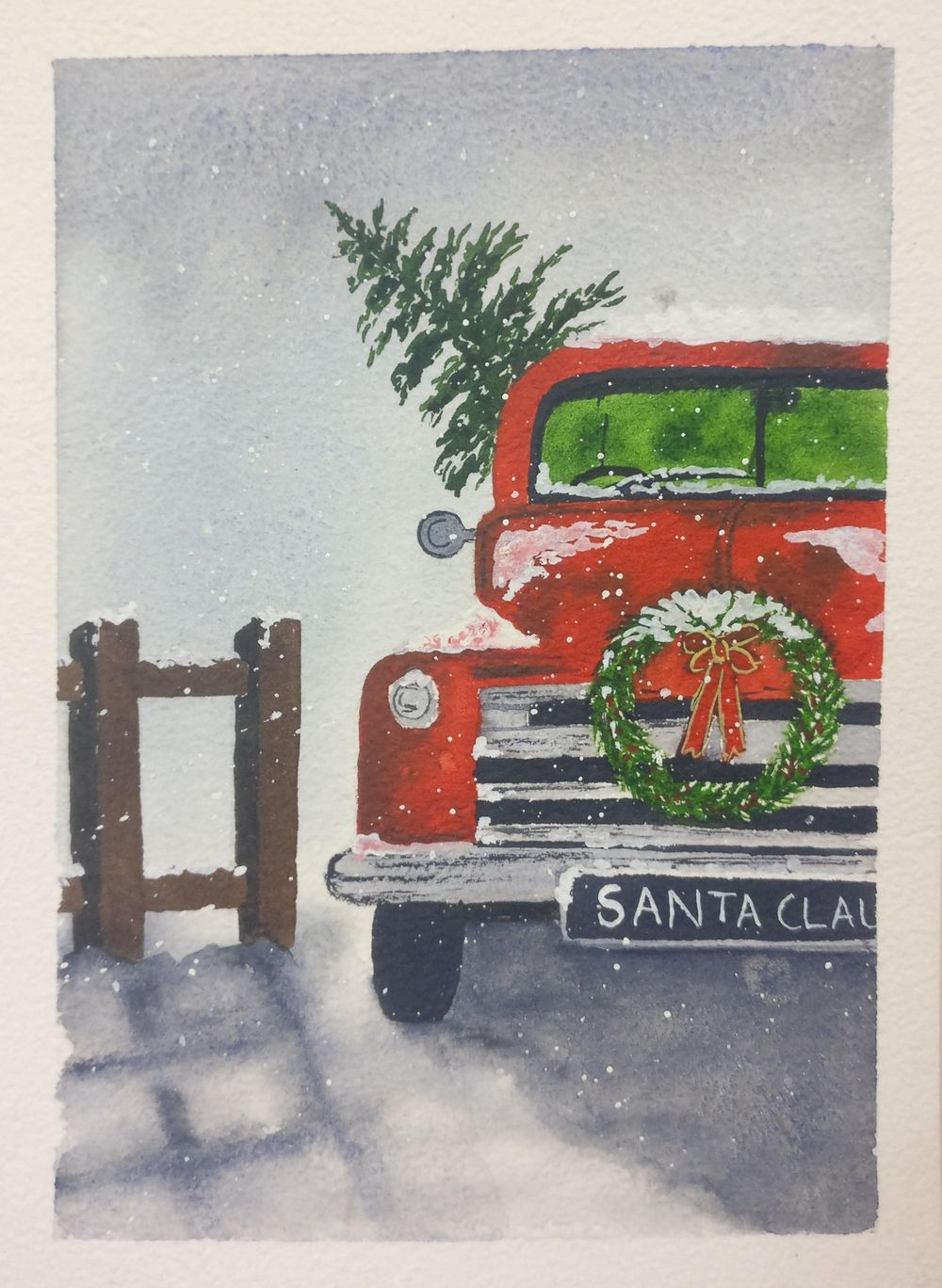 Christmas with watercolors - image 16 - student project