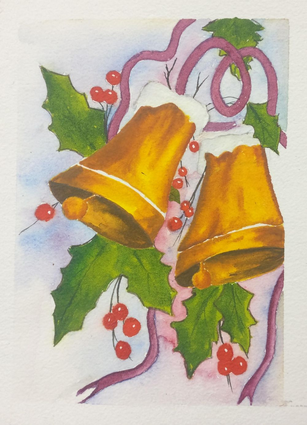 Christmas with watercolors - image 17 - student project