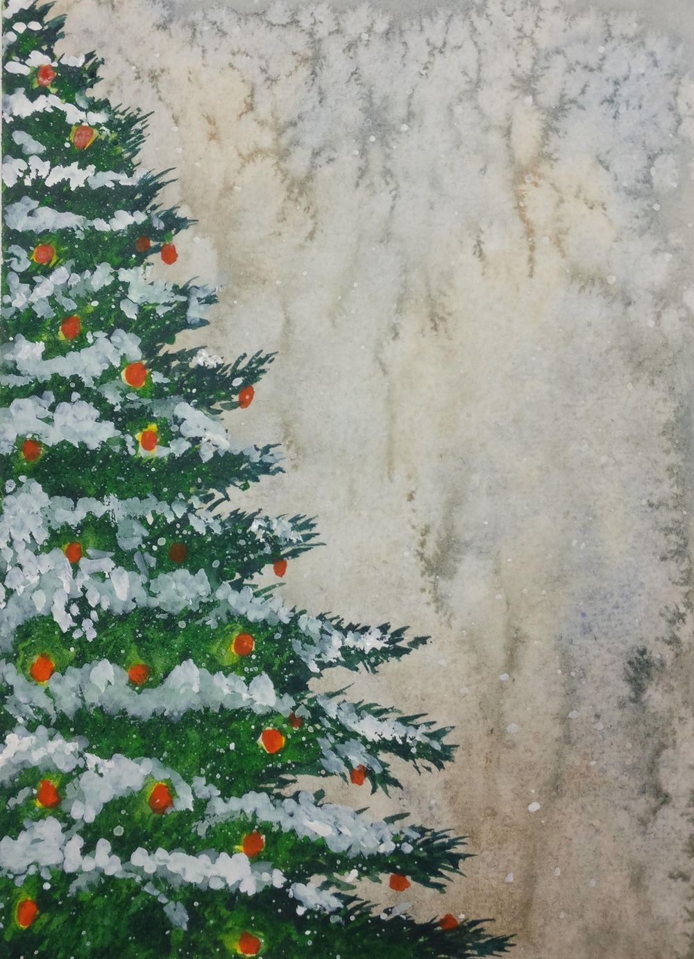 Christmas with watercolors - image 1 - student project
