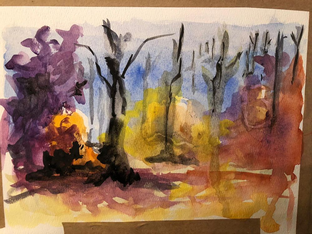 Watercolour Projects - image 3 - student project