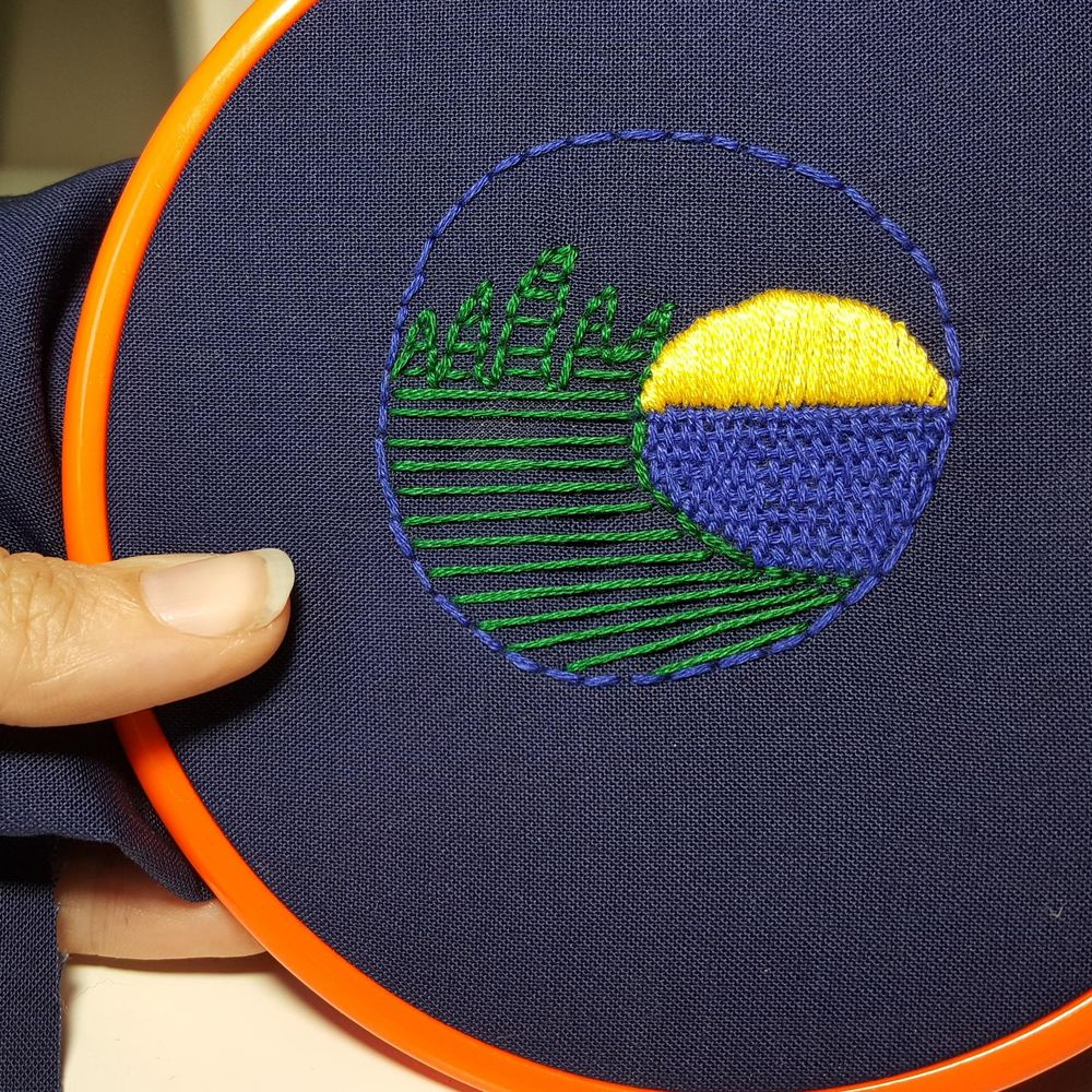 My hand embroidered patch.  - image 3 - student project