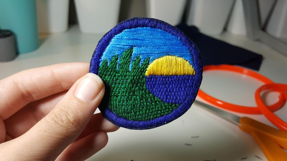 My hand embroidered patch.  - image 4 - student project