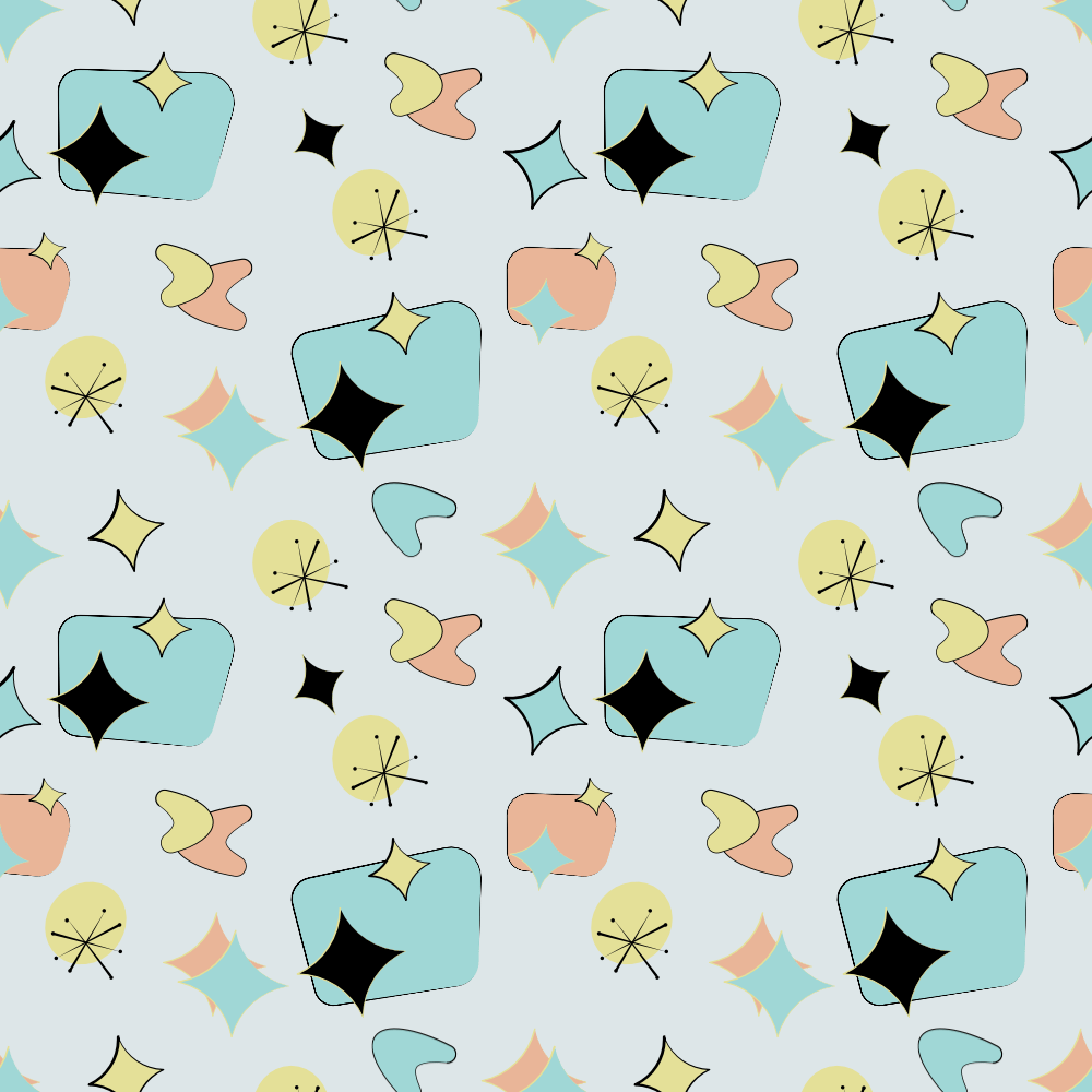 Mid Centruy Modern Repeating Pattern - image 1 - student project