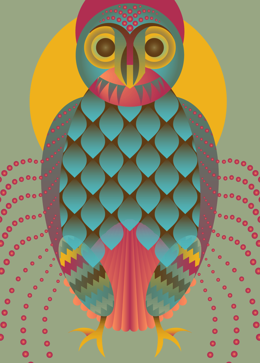 Geometrical Owl - image 2 - student project