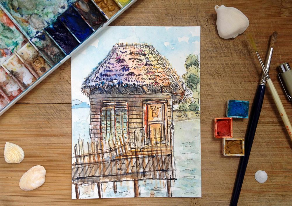 (Sample Project)  Stilt Hut on Sea - image 1 - student project