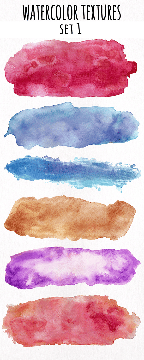 Watercolor Textures Collection - image 1 - student project
