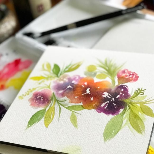 Painting Flowy Flowy Florals - image 2 - student project