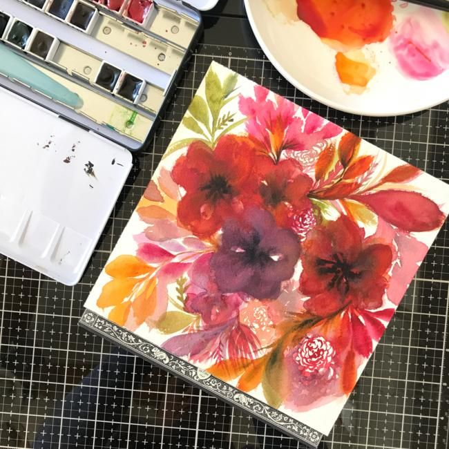 Painting Flowy Flowy Florals - image 1 - student project