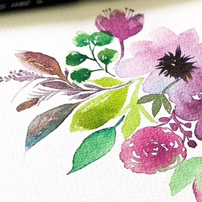 Painting Flowy Flowy Florals - image 3 - student project
