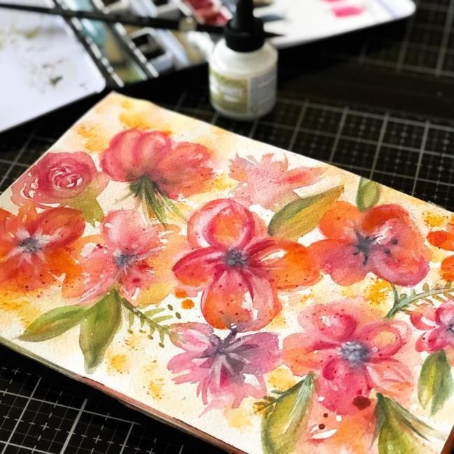 Painting Flowy Flowy Florals - image 4 - student project