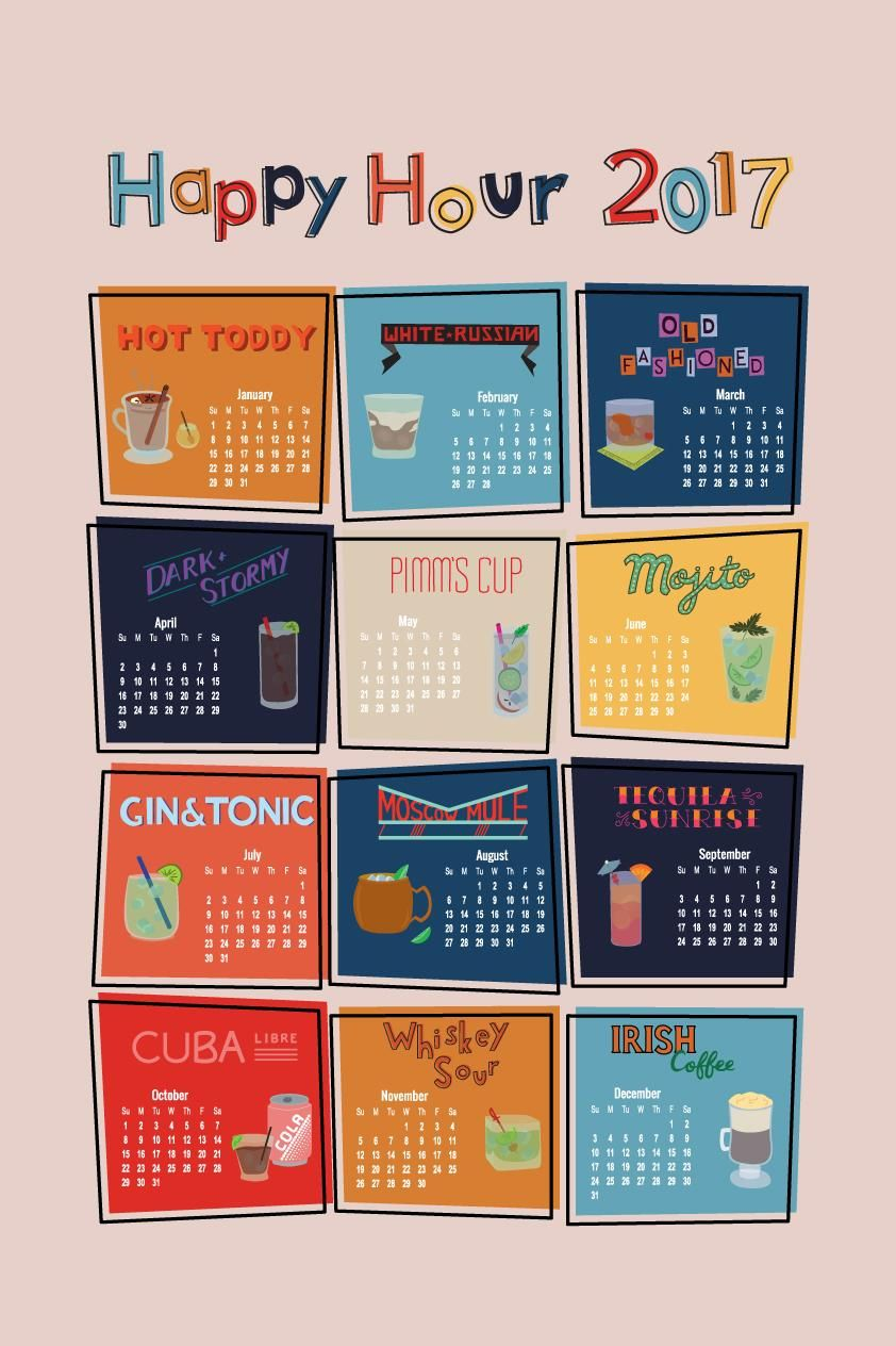 Happy Hour Calendar - image 5 - student project