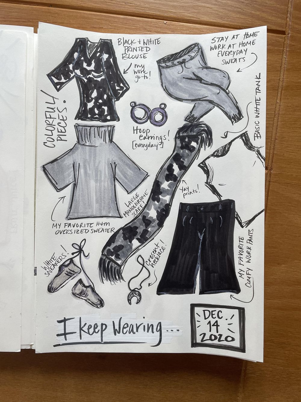 14-Day Illustrative Journaling Prompts - image 2 - student project