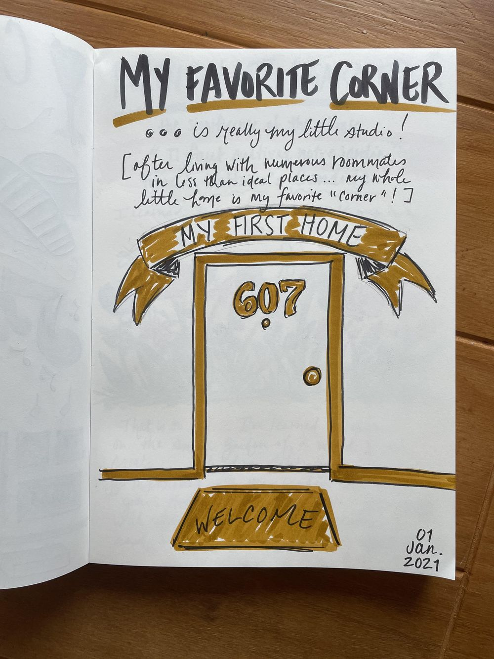 14-Day Illustrative Journaling Prompts - image 13 - student project