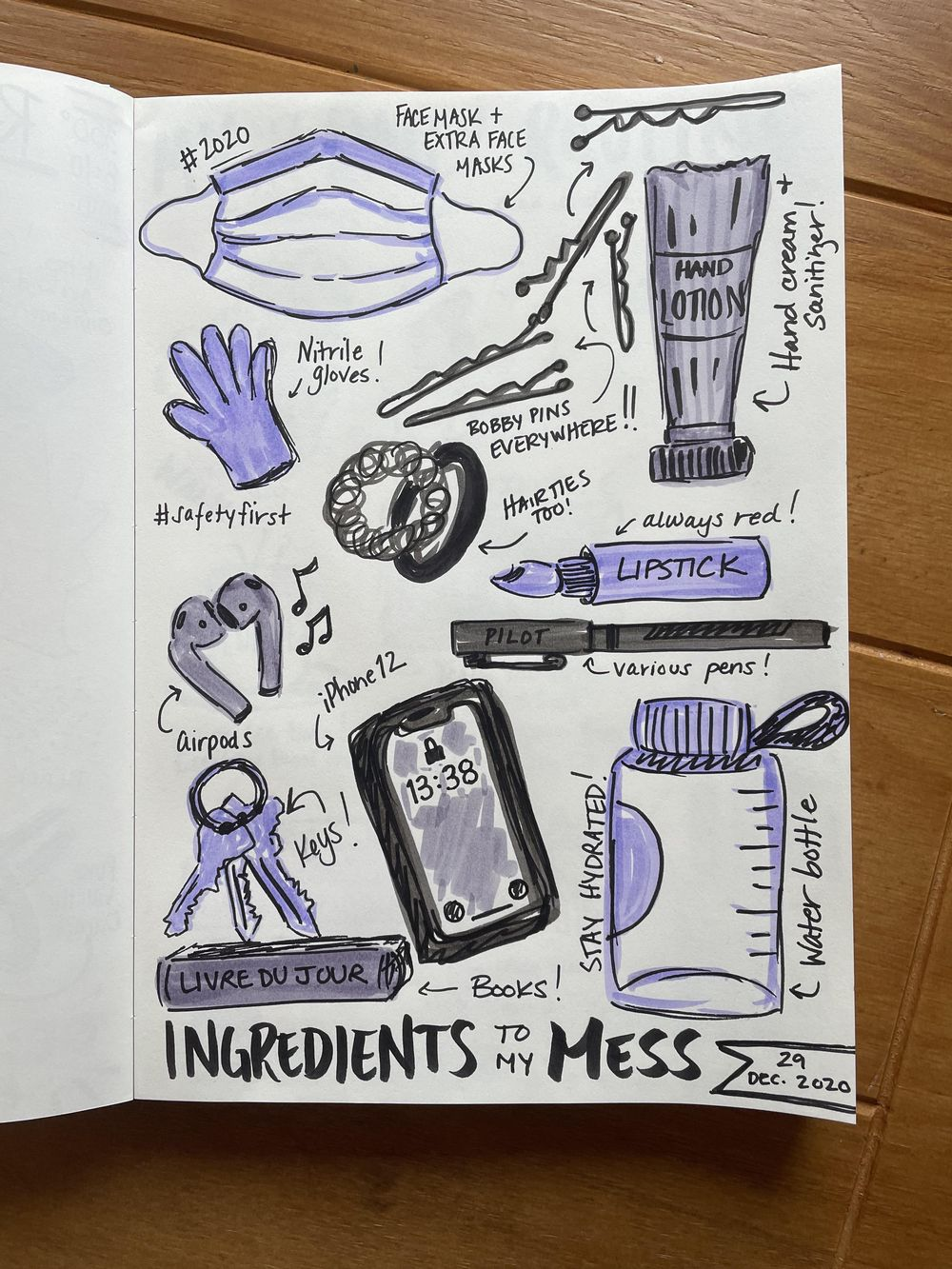 14-Day Illustrative Journaling Prompts - image 8 - student project