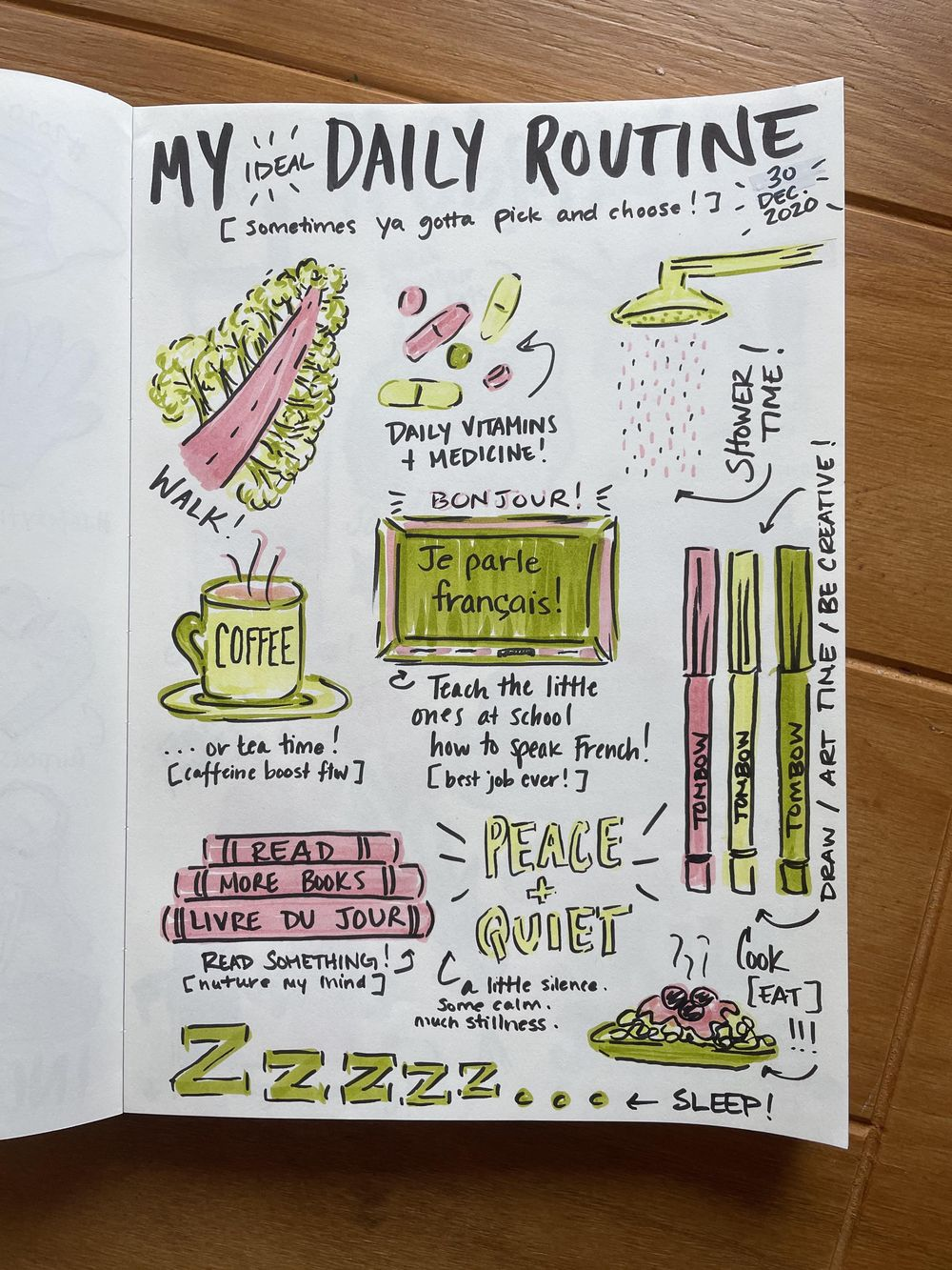 14-Day Illustrative Journaling Prompts - image 9 - student project
