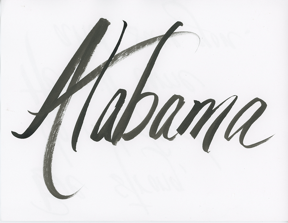 Alabama lettering - image 1 - student project