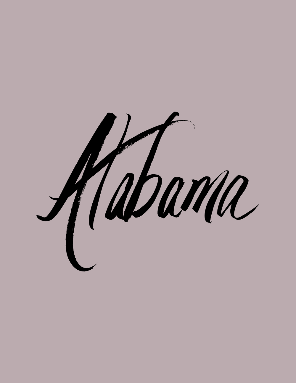 Alabama lettering - image 4 - student project