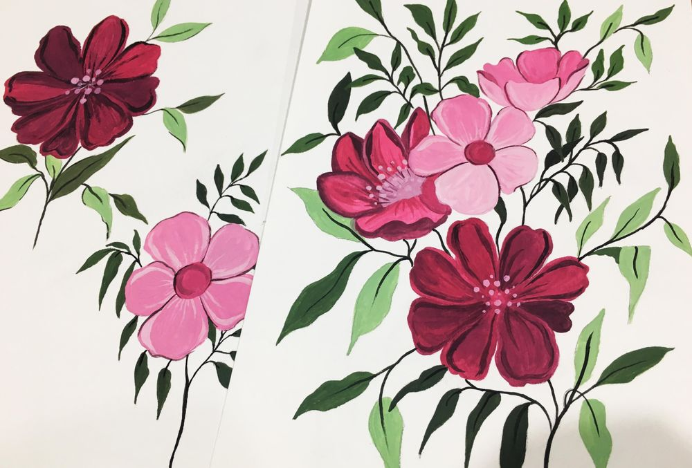 Gouache Floral Painting - image 1 - student project