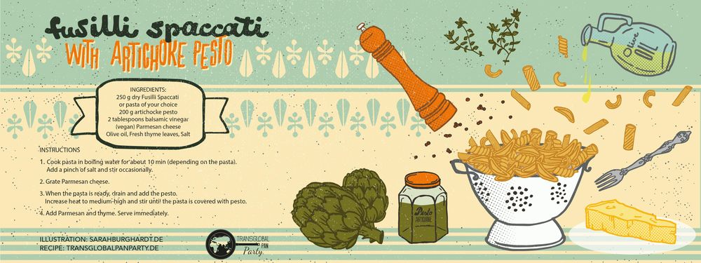 Illustrated italien recipe - image 1 - student project