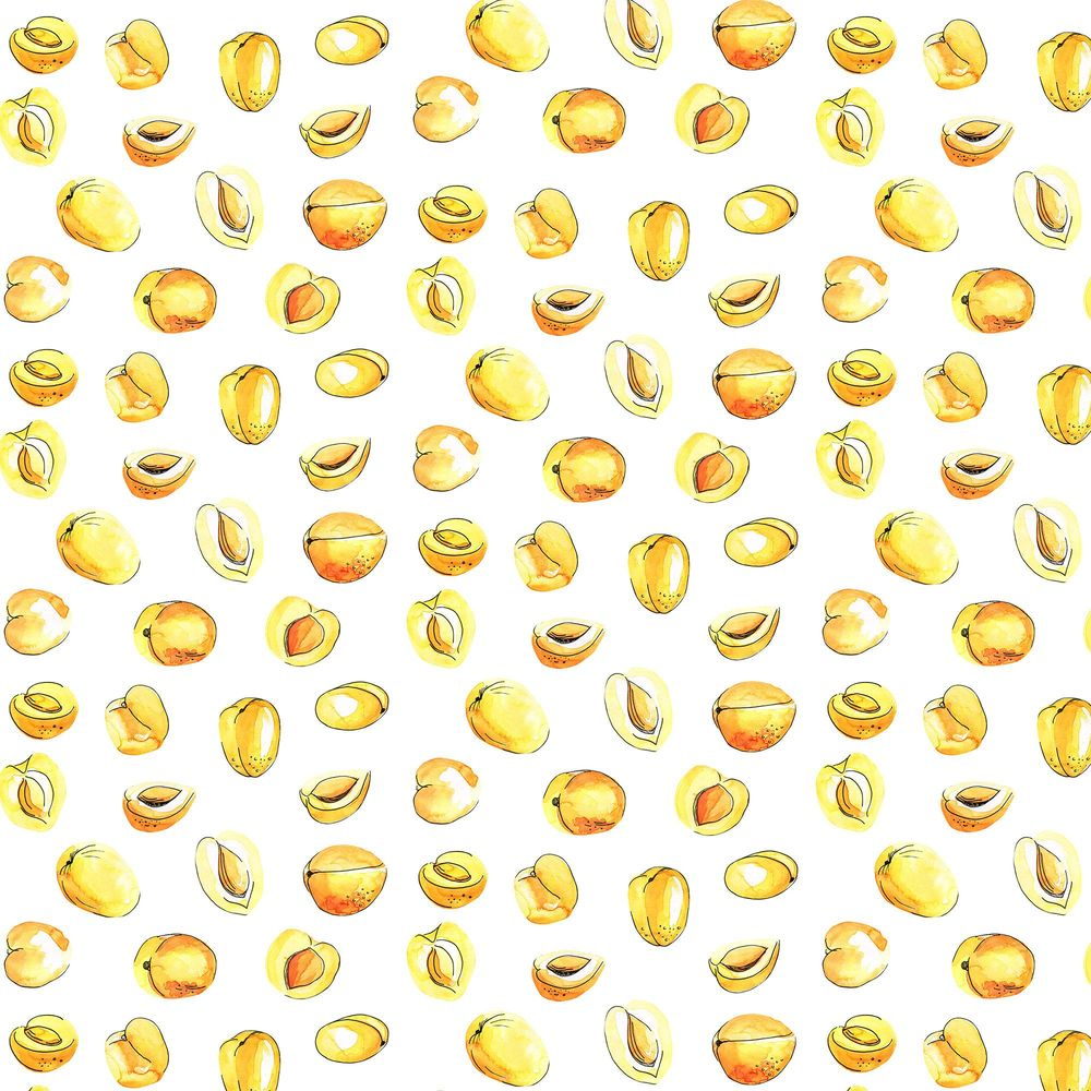 Watercolor fruit pattern - image 4 - student project