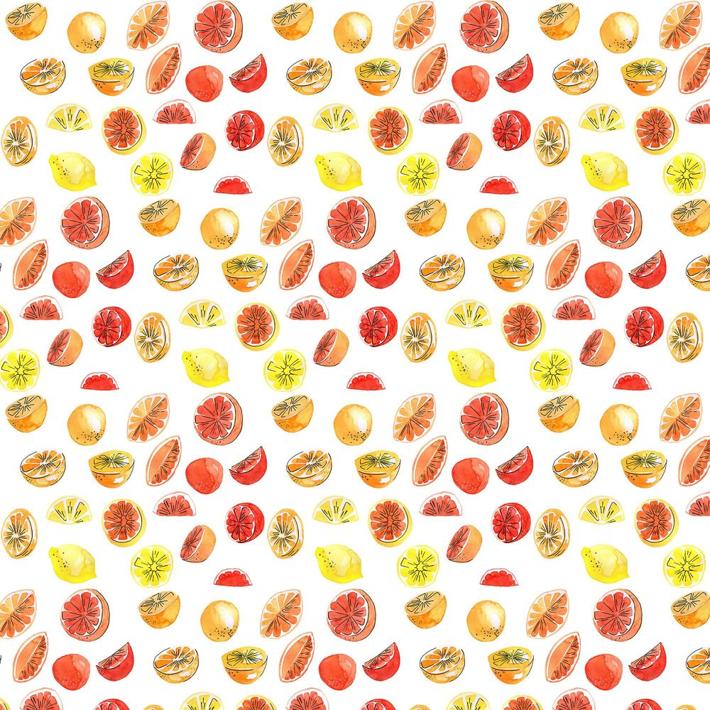 Watercolor fruit pattern - image 1 - student project