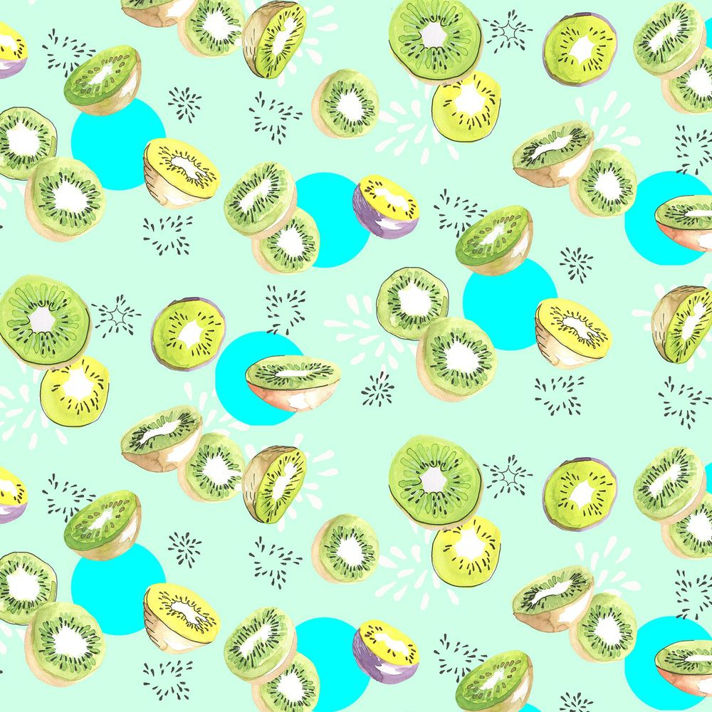 Watercolor fruit pattern - image 6 - student project