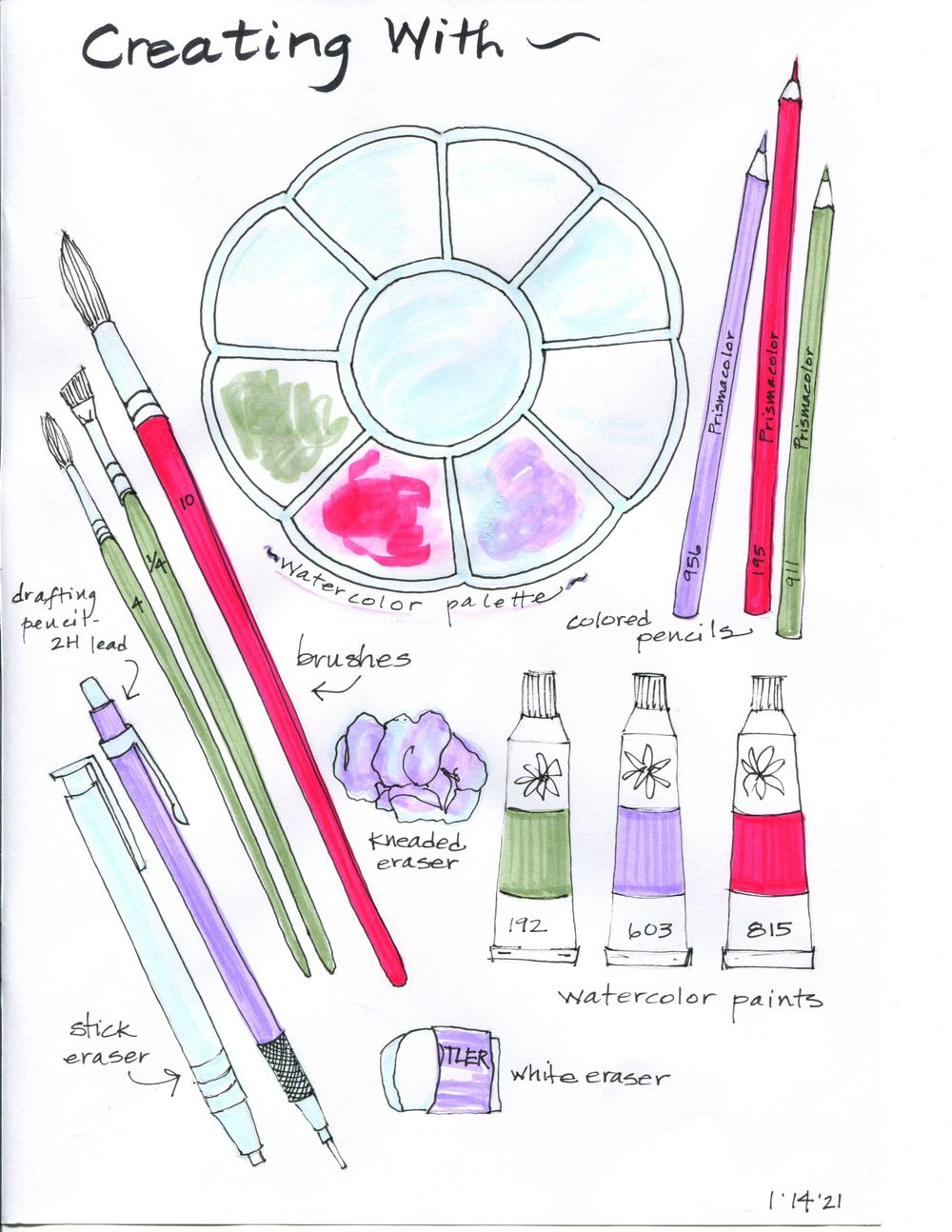 my 14-day illustrated journal - image 4 - student project