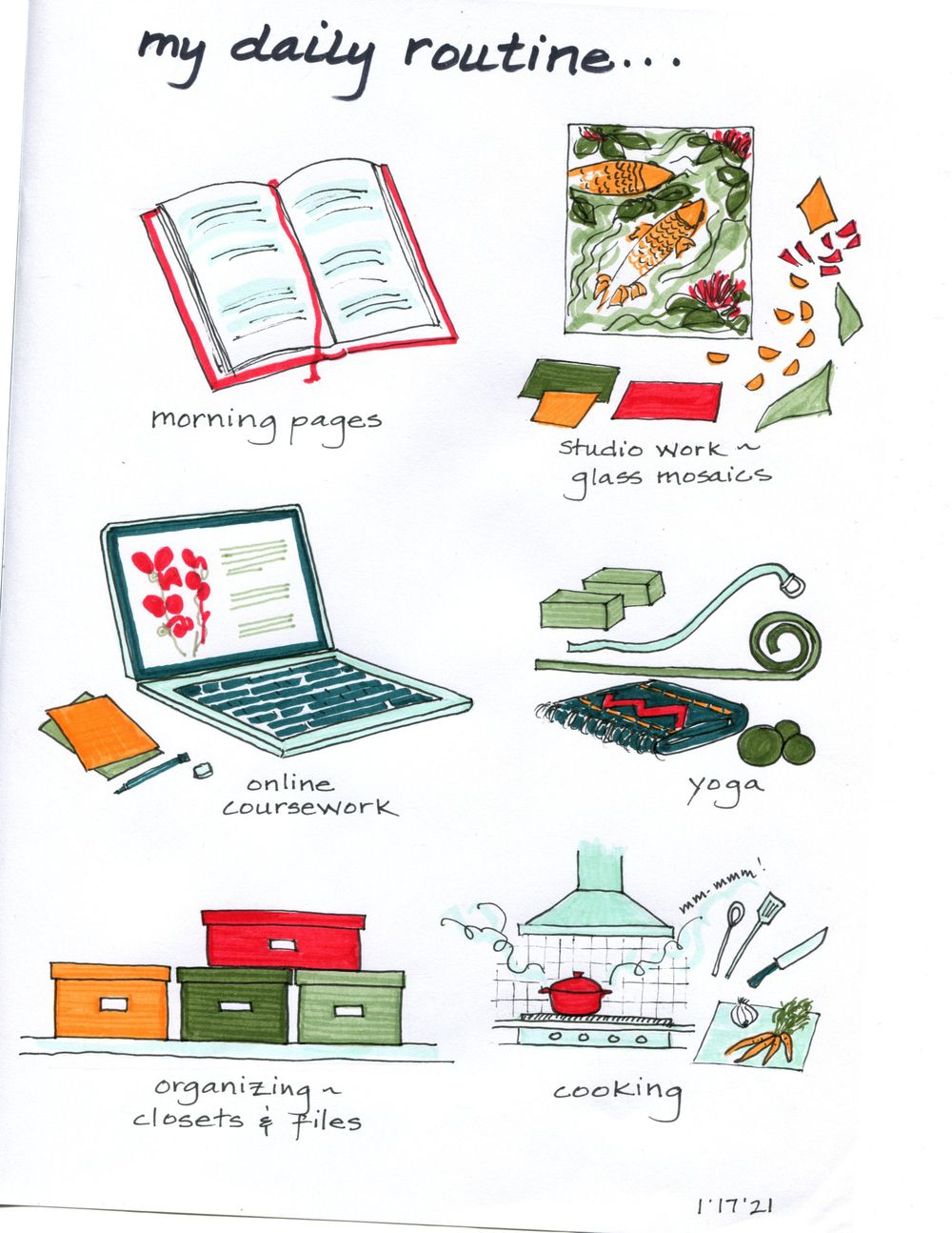 my 14-day illustrated journal - image 7 - student project
