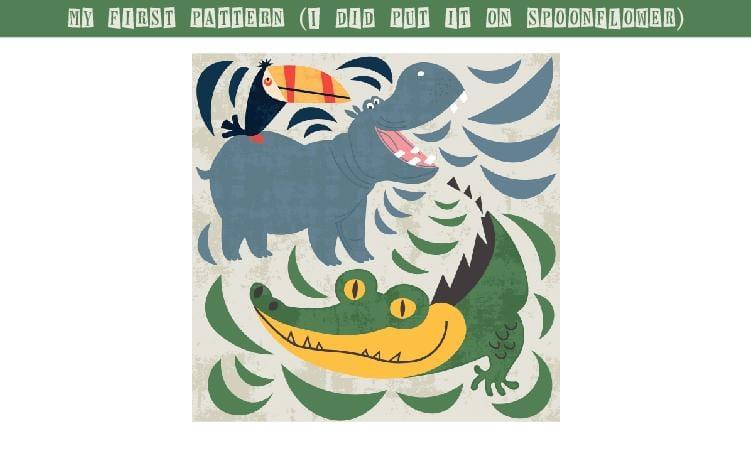 Jungle Pattern - image 2 - student project