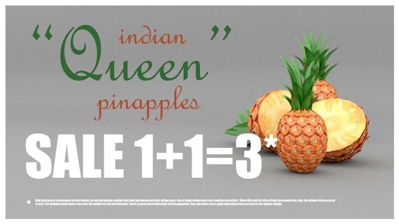 «Queen» Indian Pineapple - image 2 - student project
